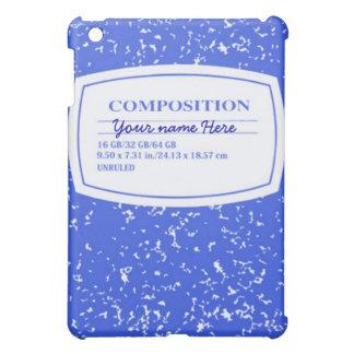 Caja azul de la mota del cuaderno de la composició