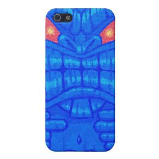 Caja azul de la mota del iPhone 4/4s de Tiki iPhone 5 Fundas