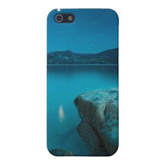 Caja azul de la mota del iPhone 4/4s del lago iPhone 5 Carcasas