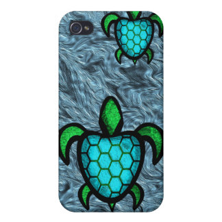Caja azul de la mota del iPhone 4 de la tortuga de iPhone 4/4S Funda