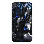 caja azul de la mota del iphone de los cristales 3 iPhone 4 cobertura