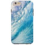 Caja azul de la ola oceánica funda de iPhone 6 plus tough