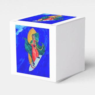 caja azul de la onda del santo que practica surf caja para regalos