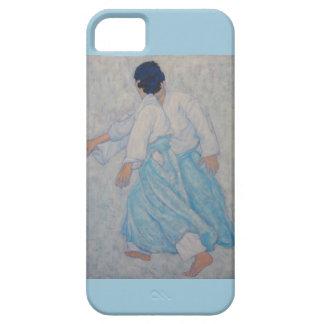Caja azul de la pintura del Aikido iPhone 5 Funda
