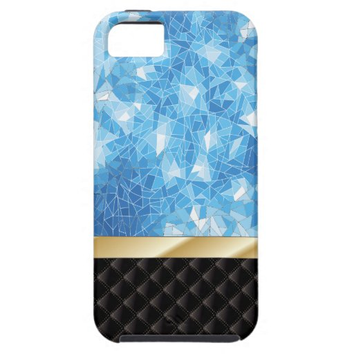 Caja azul de lujo del iPhone 5 del cristal de hiel iPhone 5 Coberturas
