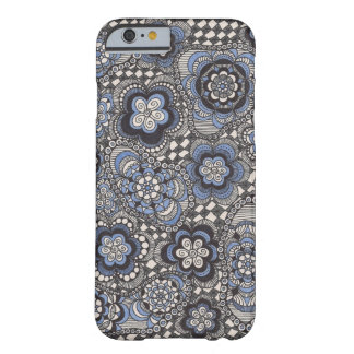 Caja azul de lujo del teléfono del dril de algodón funda para iPhone 6 barely there