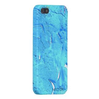 Caja azul de neón 5 y 5s del iPhone iPhone 5 Funda