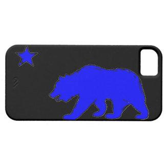 Caja azul de neón del iphone 5 del oso de la iPhone 5 carcasas