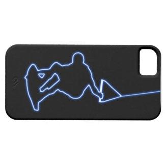 Caja azul de neón del iPhone 5 del Wakeboarder Funda Para iPhone 5 Barely There