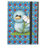 Caja azul de Powis del aire del iPad del pájaro de