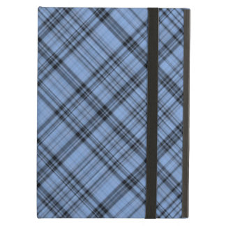 Caja azul del aire del iPad de la tela escocesa