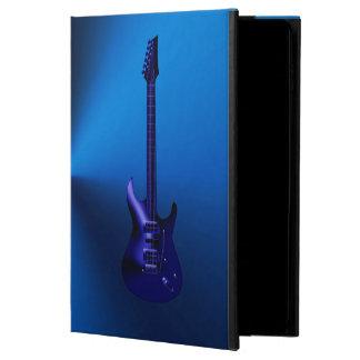 Caja azul del aire del iPad del monograma de la