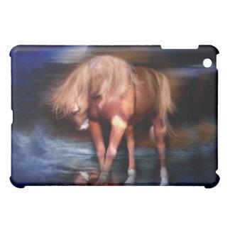 Caja azul del arte del Luna-Caballo para el iPad