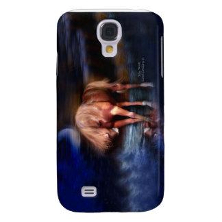 Caja azul del arte del Luna-Caballo para el iPhone