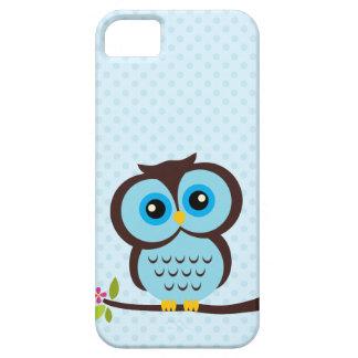 Caja azul del búho para el iPhone 5 iPhone 5 Funda