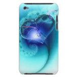 caja azul del corazón de phione de i iPod Case-Mate cobertura