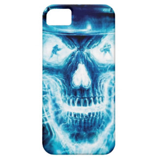 Caja azul del cráneo para Iphone 5 iPhone 5 Fundas