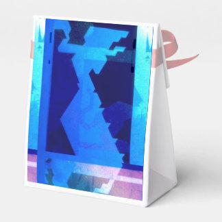Caja azul del favor de la diosa cajas para regalos de fiestas