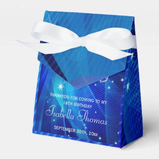 Caja azul del favor de los talones de la bola de caja para regalo de boda