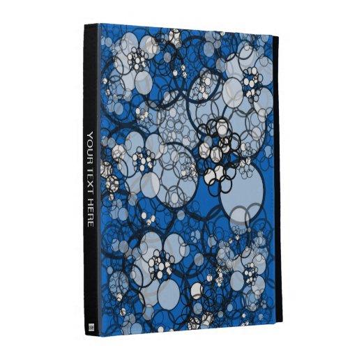 Caja azul del folio de Caseable del iPad de la bur