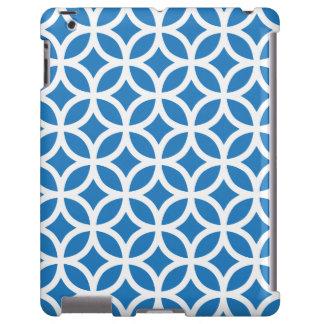 Caja azul del iPad 2/3/4 del verano geométrico