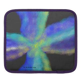 caja azul del ipad de la flor fundas para iPads