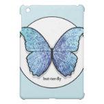 Caja azul del iPad de la mariposa del Grunge