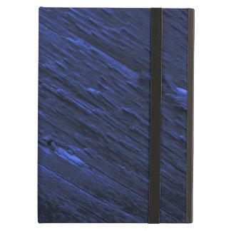 Caja azul del iPad de la viruta