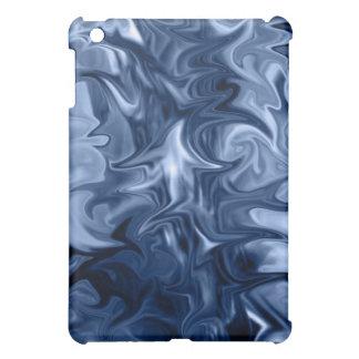 caja azul del ipad del arte abstracto