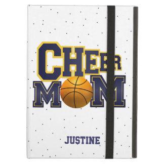 Caja azul del iPad del baloncesto de la mamá de la