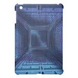 Caja azul del ipad del laberinto