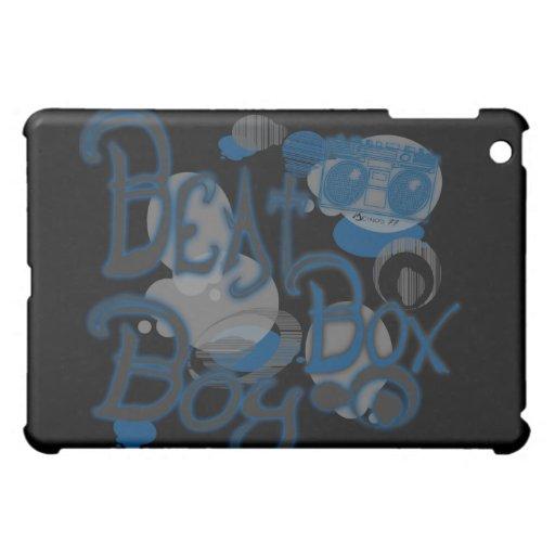 Caja azul del iPad del muchacho de la caja del gol