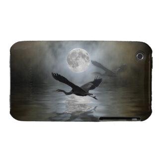 Caja azul del iPhone 3 de la luna de la garza iPhone 3 Case-Mate Cárcasas