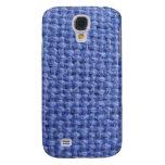 Caja azul del iphone 3 de la textura de la armadur