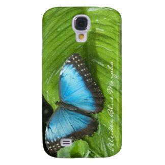 Caja azul del iPhone 3G/3GS de la mariposa de Morp Funda Samsung S4