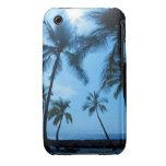Caja azul del iPhone 3G/3GS de las palmeras de Haw iPhone 3 Fundas