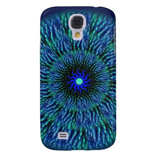 Caja azul del iPhone 3G de la mandala de la flor