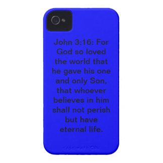Caja azul del iPhone 4/4S de la casamata del 3:16  iPhone 4 Protector