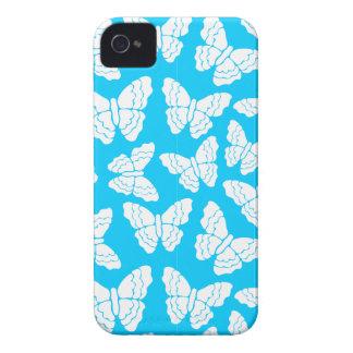 Caja azul del iPhone 4/4S de las mariposas iPhone 4 Case-Mate Funda