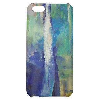 Caja azul del iPhone 4 de la cascada
