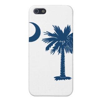 Caja azul del iPhone 4 de la luna del Palmetto iPhone 5 Carcasa