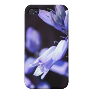 Caja azul del iPhone 4 de las flores de Bell iPhone 4/4S Carcasa