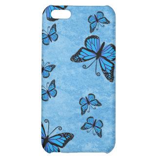 Caja azul del iPhone 4 de las mariposas del monarc