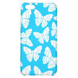Caja azul del iPhone 4 de las mariposas