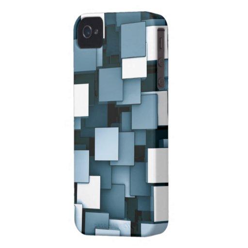 Caja azul del iPhone 4 de los cubos futuristas abs iPhone 4 Cárcasas