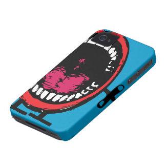 Caja (azul) del iPhone 4 de los dientes de la iPhone 4 Cárcasa