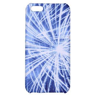 Caja azul del iPhone 4 de los fuegos artificiales