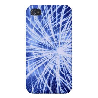 Caja azul del iPhone 4 de los fuegos artificiales iPhone 4 Coberturas