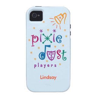 Caja azul del iPhone 4 de los jugadores del polvo  Vibe iPhone 4 Fundas