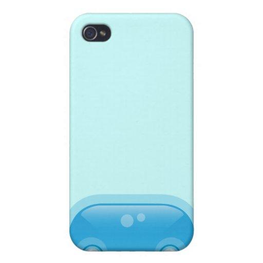 Caja azul del iPhone 4 del Bloop de Squishies iPhone 4 Cobertura
